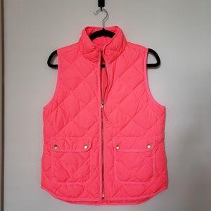 J. CREW Neon Pink Puffer Down Vest